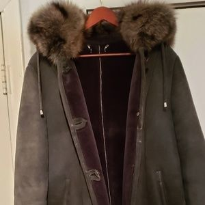 Jackets & Blazers - Suede and fur coat